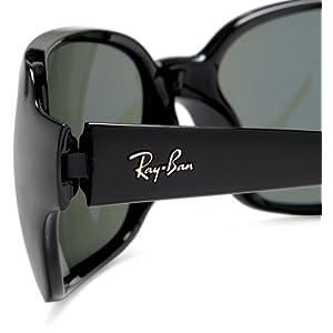 Ray Ban Sunglasses RB 4068 601 Glossy Black/Crystal Green, 60mm