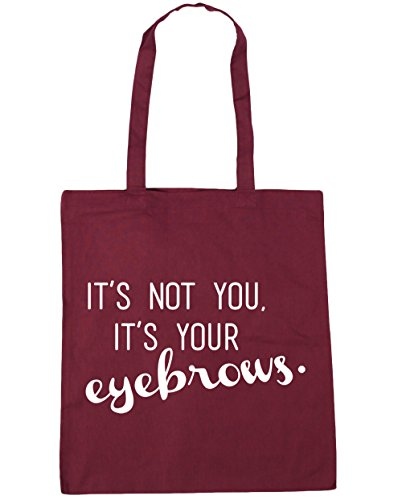 eyebrows HippoWarehouse Bag Beach It's x38cm you your Gym 42cm Shopping Tote Burgundy 10 not it's litres gSUrgq