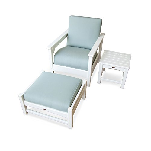 Club 3 Piece Deep Seating Set (Polywood Lounge Set)