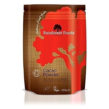 Cocktail Mixers Rainforest Foods Organic Peruvian Cacao Powder 250 G