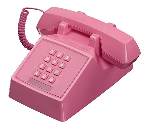 Wild Wood Classic Retro Landline Phone, Flamingo Pink
