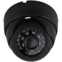 Auto Rover 1000TVL High Resolution Indoor CCTV Home Surveillance Camera , 24PCS LEDs IR Cut CCD Dome Audio Security Camera With 4P Aviation Connector, Plastic Casing Black DC9-36V