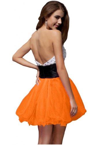 Organza nuovo corto Orange linea Homecoming in Sunvary Vestito Dress arrivo una FqwqO7z