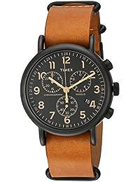 Unisex TW2P97500 Weekender Chrono Tan Leather Slip-Thru Strap Watch
