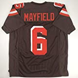 Unsigned Baker Mayfield Cleveland Custom Stitched Brown Football Jersey Size Men s XL New No Brands/Logos