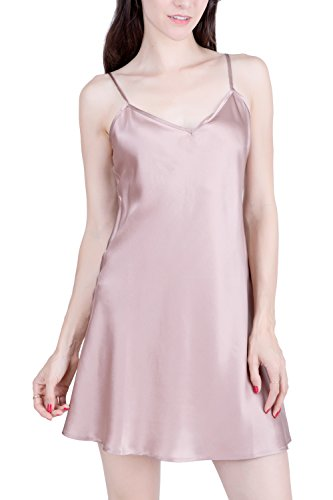 OSCAR ROSSA Women's Luxury Silk Sleepwear 100% Silk Slip Chemise Lingerie Nightgown