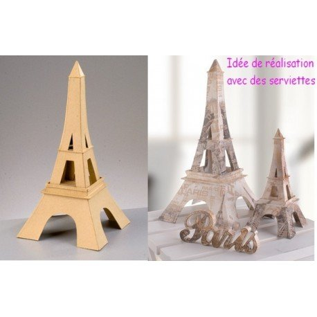 Grande Torre Eiffel in cartapesta, 37 cm, da personalizzare Efco