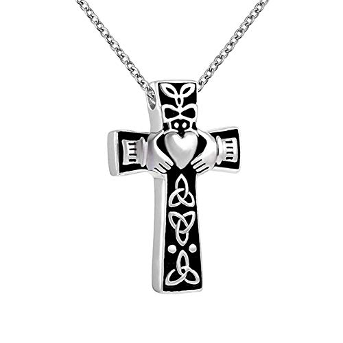 Roy Lopez Cross Urn Jewelry Necklaces for Ashes Angel Wings Cremation Keepsake Memorial Jewelry
