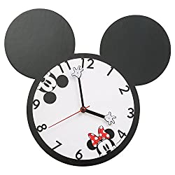 Vandor 89189 Mickey and Minnie Mouse Shaped Deco Wall Clock