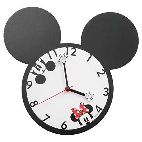 Vandor 89189 Mickey and Minnie Mouse Shaped Deco Wall Clock (Wall Disney Clocks)