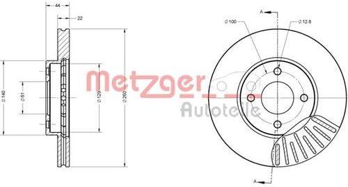 Metzger Bremsscheiben /ø259mm Bremsbel/äge Set Vorne