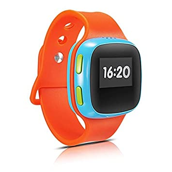 KIDSWATCH BLUE RED ACCS 2G GPS LOCATOR IPS 65 IN