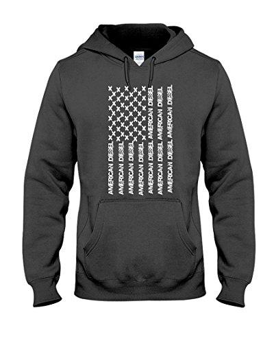 Bold Diesel Tees American Diesel Flag, Thick Diesel Truck Hoodie Sweat Shirt