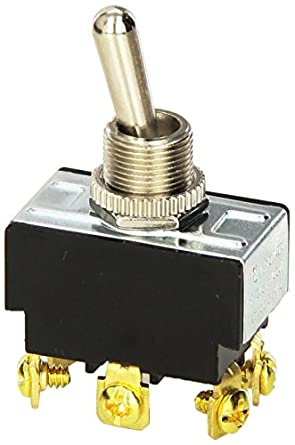 Amazon.com: Morris 70130 Heavy Duty Toggle Switch, DPDT, On-On ...