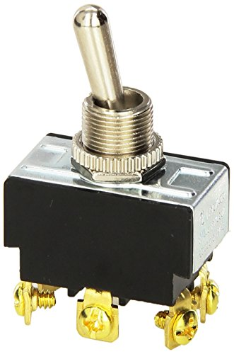 Morris 70130 Heavy Duty Toggle Switch, DPDT, On-On, Screw Terminals, 2 Poles