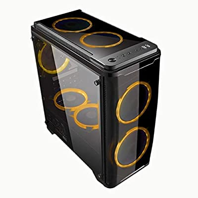 UNYKAch Armor C20 Torre Negro Carcasa de Ordenador - Caja de Ordenador (Torre, PC, SPCC, Micro-ATX, Negro, 0,5 mm)