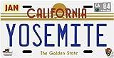 Yosemite National Park 1980s California License Plate