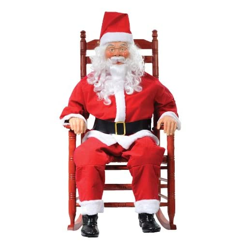 rocking chair santa - Christmas Animatronics