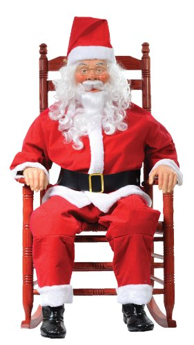 [ROCKING CHAIR SANTA CLAUS HALLOWEEN PROP Decoration House Christmas Yuletide - MR4124012] (Halloween Animatronics)