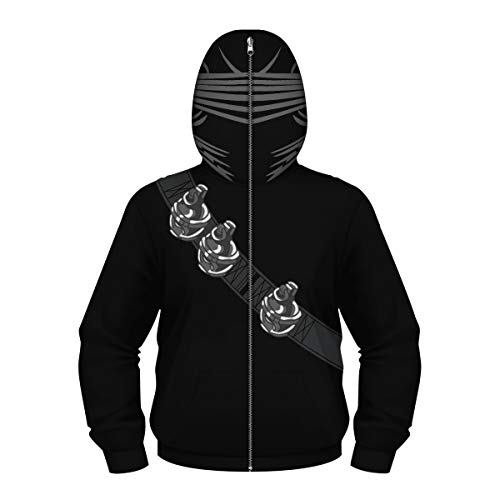 Boys 3D Digital Print Pullover Hoodie Casual G.I.Joe Snake Eyes Costumes Sweashirt Jacket with Pockets]()