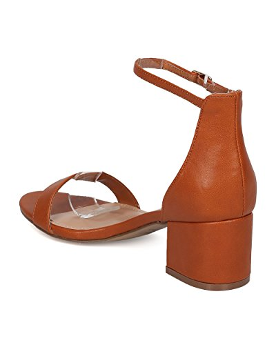 Sandalo Con Tacco Grosso In Similpelle Breckelles - Basic, Elegante, Formale, Versatile, Casual - Sandalo Con Cinturino Alla Caviglia - Gg63 By Tan