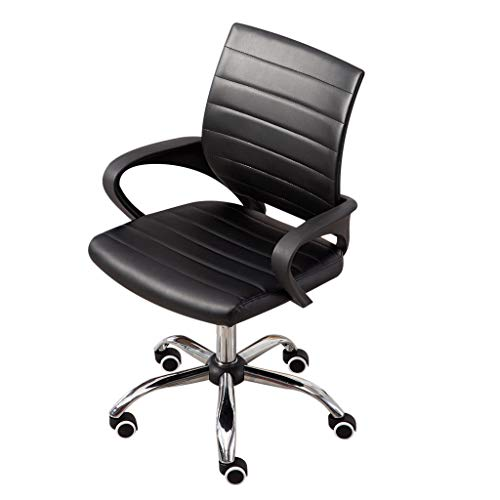 Hstore Leather Executive Office/Computer Chair with Arms - Ergonomic Swivel Chair Fashion Casual Lift Chair Office Work Chair Beauty Salon Chair US Stock (D)