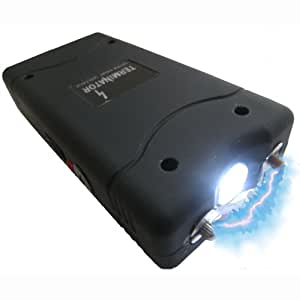 Stun Gun With Flashlight - Terminator 400 MV - Mini Rechargeable Cheap Reliable Stun Gun With LED Flashlight - Self-Defense - Defend Yourself