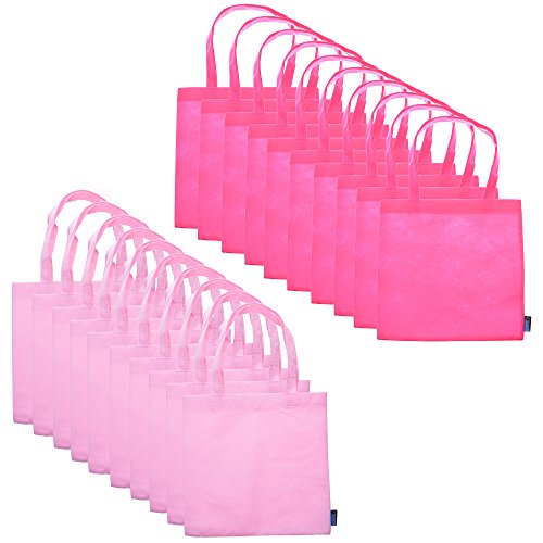BCP 9-inch 20pcs Small Non-woven Reusable Kids Carrying/ Shopping/grocery Tote Bag for Wedding Favor/gift /Party