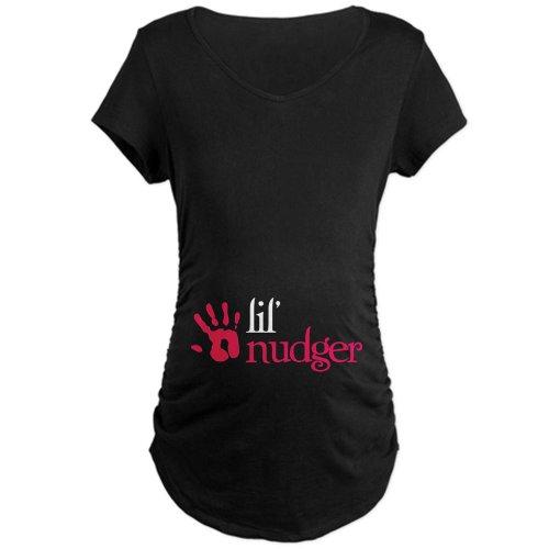 CafePress - Lil' Nudger - Twilight Breaking Dawn Maternity Dar - Cotton Maternity T-shirt, Cute & Funny Pregnancy Tee