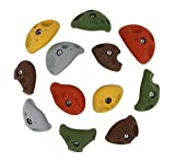 Atomik Climbing Holds 12 Large Divot Bolt-on Jugs Rock Climbing Holds Hand Holds Mixed Earth Tones
