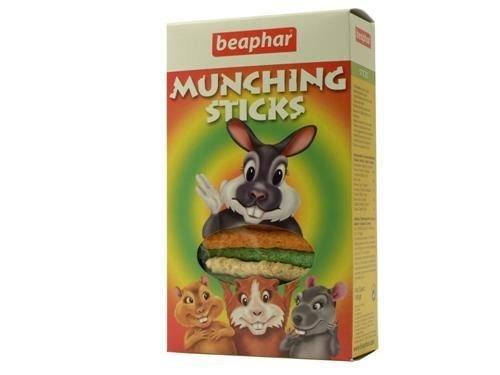 Beaphar Small Animal Munching Sticks, snack for Rabbits, Guinea Pigs, Hamsters & Chinchillas. 150G - 2 packs