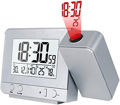 Reloj De Proyección Atómica Con Temperatura - Proyector De ...
