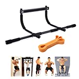 Doorframe Pull Up Bar Adjustable for Wide Door with Assistant Band for Whole Body Strength Workout