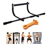 TODO Door Gym Bar with Assistant Bands Perfect Workouts for Pull-Up Chin-Up Push-Up Sit-Up Hanging Bands Exercise Portable and Detachable