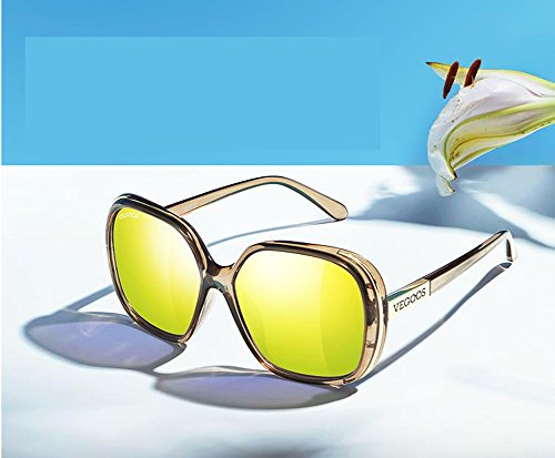 pour pour A à femmes soleil Lunettes de large Lunettes Polarizer à de cadre femmes couleurs soleil Zq7vSwE