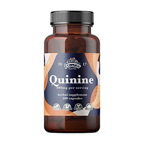 Quinine Capsules 800mg, Cinchona Bark Pills (Cinchona succirubra, Peruvian Bark) Herbal Supplement (Quinine Sulfate)