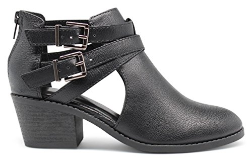 Marco Republic Dublin Girls Kids Childrens Chunky Block Stacked Heels Pumps Ankle Booties Boots
