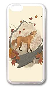 Apple Iphone 6 Case,WENJORS Awesome Fox and rabbit Soft Case Protective Shell Cell Phone Cover For Apple Iphone 6 (4.7 Inch) - TPU Transparent