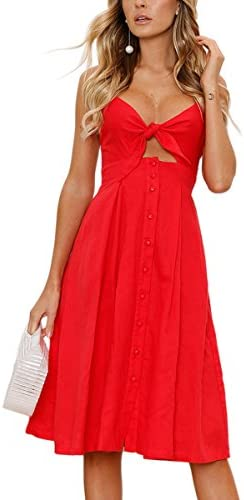 ECOWISH Womens Dresses Spaghetti Backless product image