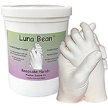 Luna Bean KEEPSAKE HANDS Plaster Statue DIY Molding & Casting Kit