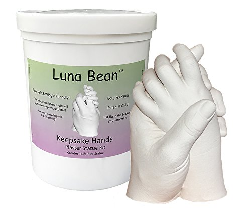 Luna Bean KEEPSAKE HANDS Plaster Statue DIY Hand Molding & Casting Kit from Luna Bean