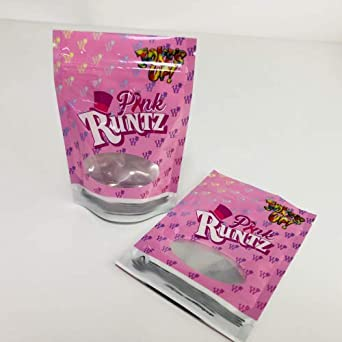 Pink Runtz 3 5g 8th Mylar Bags (50 Pack)