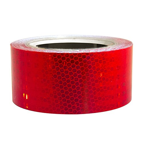 30' Fence System - Superbrite Red Micro Prismatic High Intensity Reflective Tape 18 Mils Thickness - 2 Inch x 30 Foot Roll