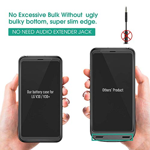 huge discount 90fb7 e3b3c NEWDERY LG V30 Battery Charger Case, 4200mAh Slim Portable Power Charging  Case with Soft Edge Full Protection, Extended Battery Cover Compatible LG  ...