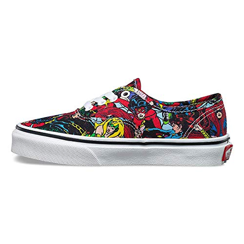 Vans Authentic Youth Unisex Casual Sneakers, Size 1.5, Color Multi/True White -