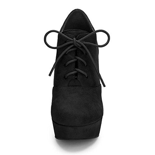 Up Booties Heel Chunky Platform Women's Allegra Black K Lace 4vwCqp6H6