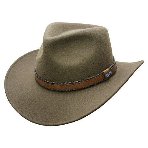 Conner Hats Men's Outback Creek Crushable Wool Hat, Loden Green, L from Conner Hats