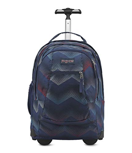 JanSport JS00TN8940L Driver 8 Backpack, Matrix Chevron Navy
