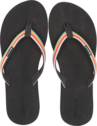 Rip Curl Icon - Rip Curl Freedom Black Sandals, Grey, 7