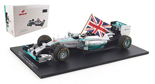 1/18 Mercedes F1 W05 Hybrid Winner Abu Dhabi GP 2014 FIA F1 2014 World Champion (with Flag) #44 18S159
